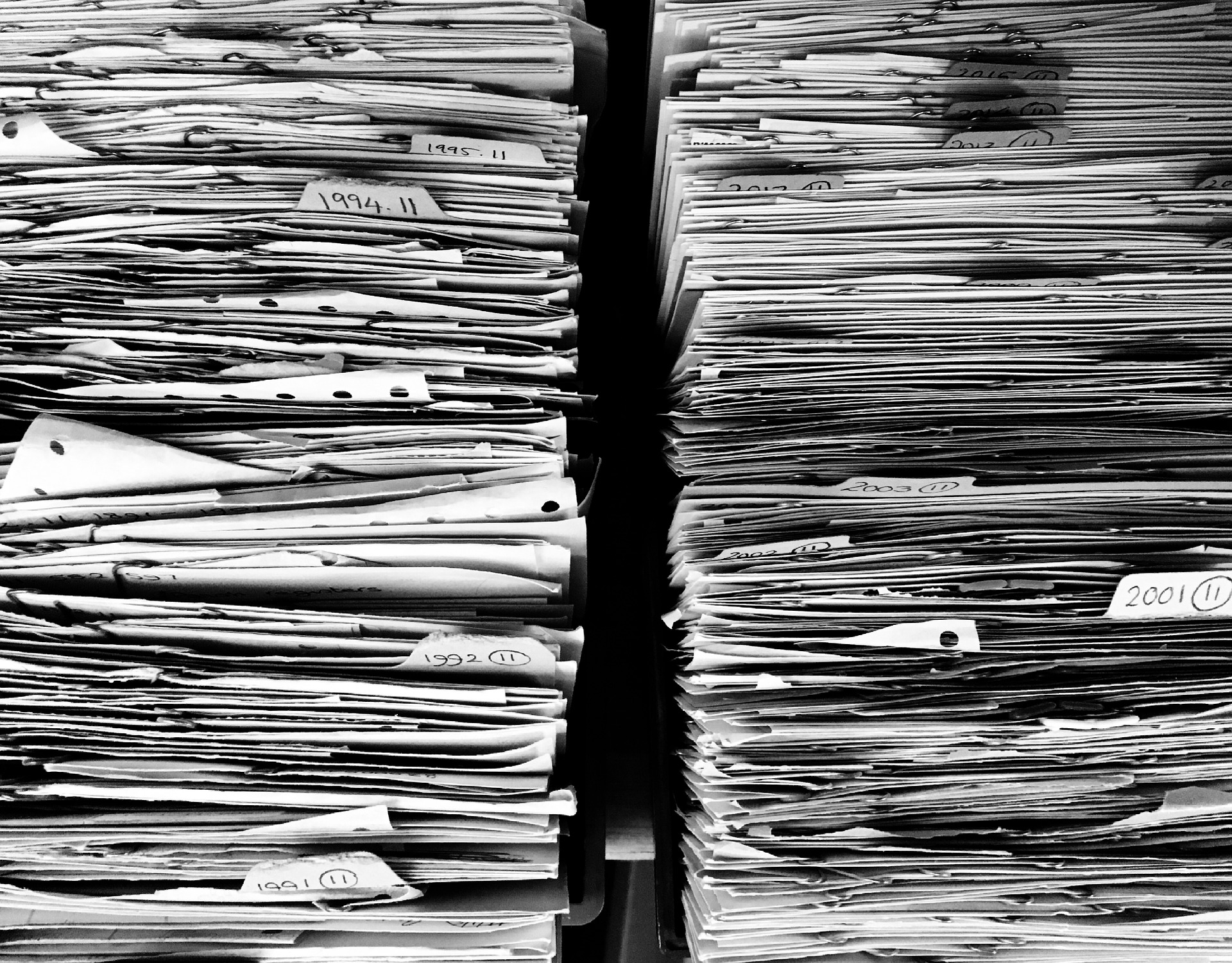 disorganized file stack