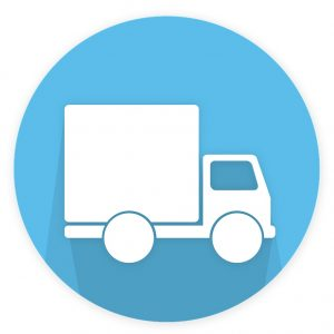 Delivery Truck Transporting Imaged Hard Copy Documents from Scanning Vendor